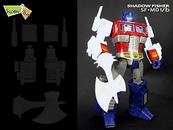 Shadow Fisher SF-M01B ARM, SMOKESTACK & AX Upgrade Kit for Takara MP-10